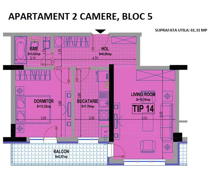 2 camere bloc 5 - 14