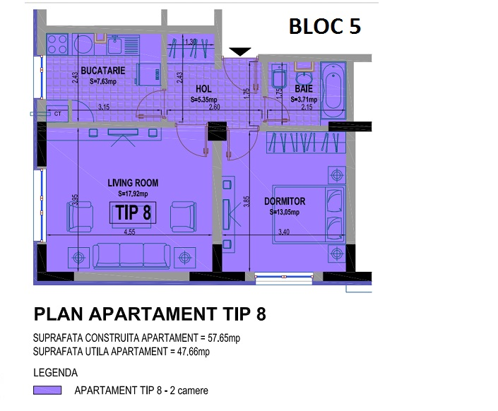 2 camere bloc 5 - 8