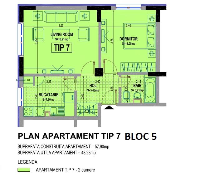 2 camere bloc 5 A