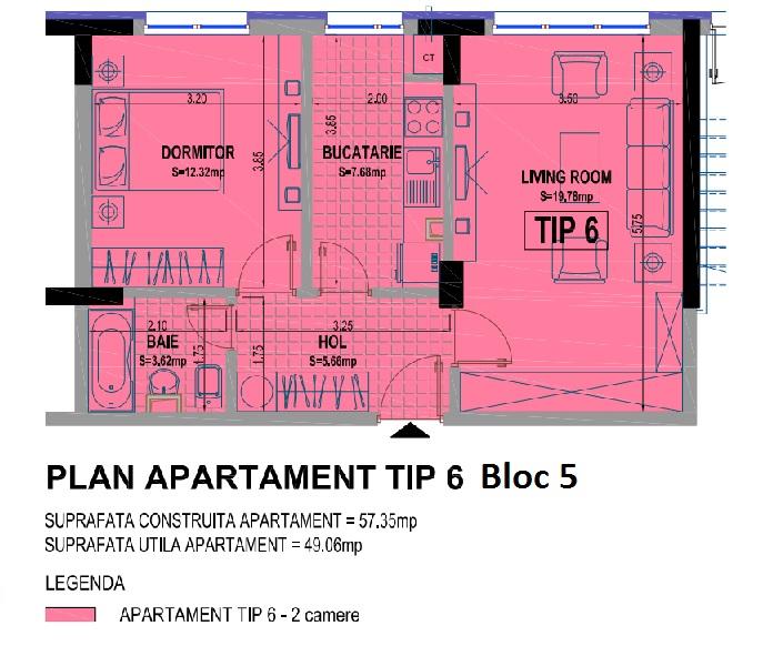 2 camere bloc 5
